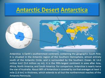 Deserts Cold Deserts distance learning