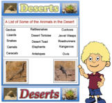 Deserts - Science (No Prep) PDF File