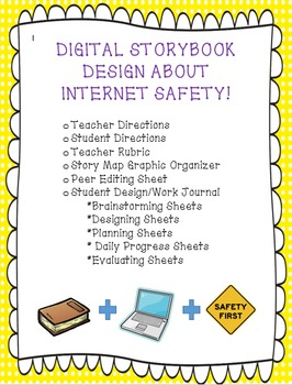 Digital Storybook Design About Internet Safety