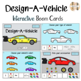 Design-A-Car Interactive Boom Cards w/ sentence strips