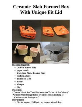 """Design A Ceramic Slab Formed Container With A """"Lockable"""" Lid  Which Stays Put."""