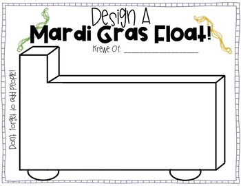Design A Mardi Gras Float Activity
