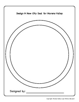 Create Your Own Moreno Valley City Seal