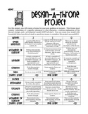 Design-A-Throne: Greek Mythology Project