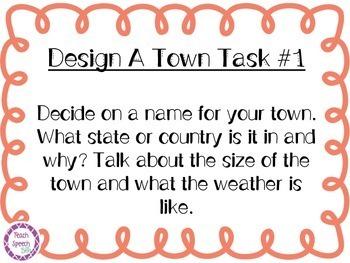 Design A Town: Speech/Language Activity