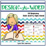 Design A Word - Sight Word Activity