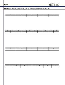 Design - Algorithm - STEM Worksheet