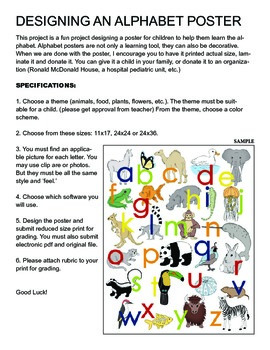 Design An Alphabet Poster for Children