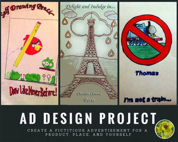 Design Art Project- Advertisement Investigation and Design (Series of 3)