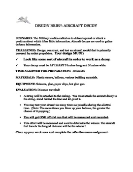 Design Challenge-Aircraft Decoy