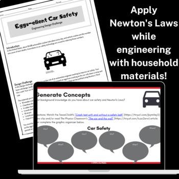 Design Challenge - Eggs-ellent Car Safety (Physical Science + Engineering)
