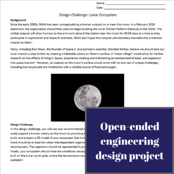 Design Challenge - Lunar Ecosystem (Life Science + Earth Science + Engineering)