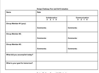 Design Challenge Self and Peer Assessment