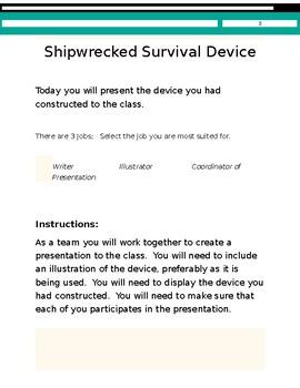 Design Challenge - Shipwrecked