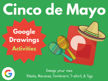Design Cinco de Mayo with Google Drawings! (Google Classroom, Digital Art)