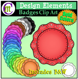 Badges Clipart Bold Patterned