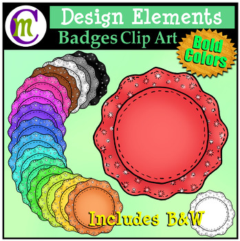 Badges Clipart Bold Patterned