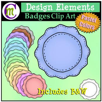 Design Clipart | Pastel Badges CM