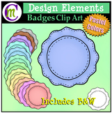 Badges Clipart Pastel