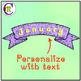 Banners Clipart Patterned Pastel