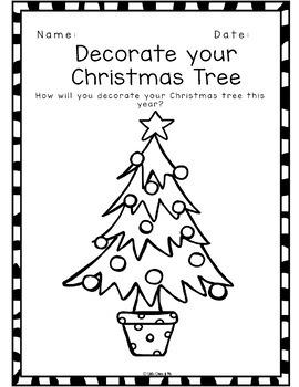 Design, Decorate and Colour a Christmas Item