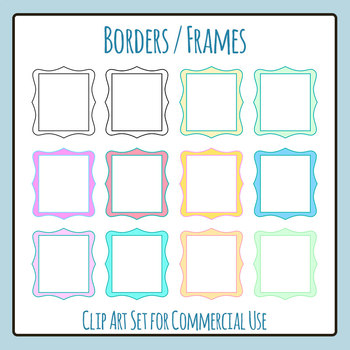 Design Elements - Borders Clip Art for Commercial Use