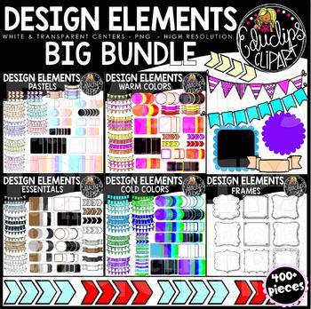 Design Elements Clip Art Big Bundle {Educlips Clipart}