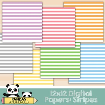 Design Elements - Digital Papers: Stripes