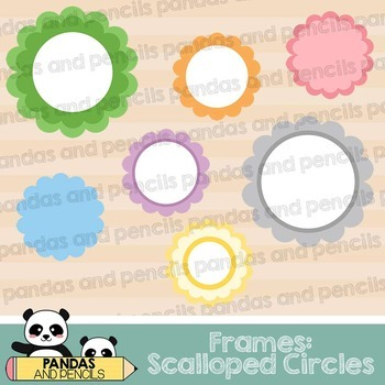Design Elements - Scalloped Circle Frames