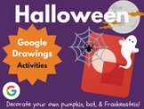 Design Halloween with Google Drawings! (Bat, Jack-o-Lantern, Frankenstein)