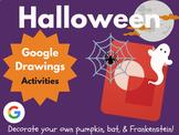 Design Halloween with Google Drawings! (Bat, Jack-o-Lantern, Frankenstein)