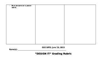 """Design It"" Area and Perimeter Project Explanation and Rubric"