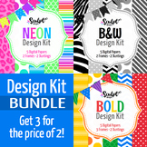 Design Kit Bundle ~ Digital Papers, Frames & Buntings