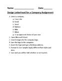 Design Letterhead for a Company Assignment