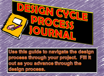 Design Process Journal: Great for IB Design and Design Projects