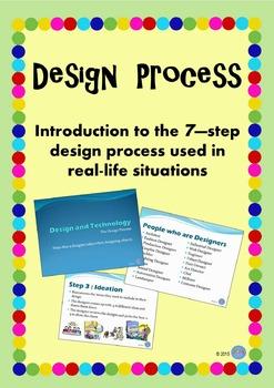Design Process PowerPoint - 7 Steps designers take - Design & Technologies