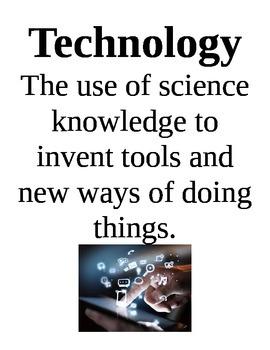 Design Process Science Vocabulary Poster