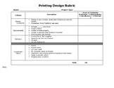 Design Rubric