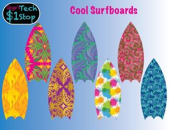 Surfboards * Summer Fun * Clipart