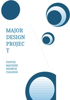 Design Technology Folio coffee residue cleaner
