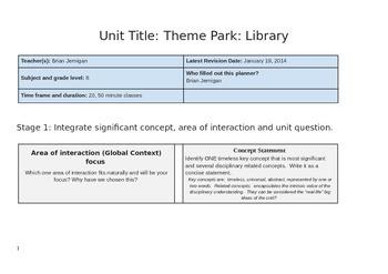 Design Technology Unit Library