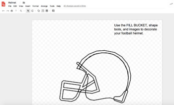 Design The Big Game with Google Drawings! (Football)