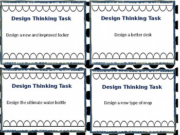 Design Thinking Task Cards (Editable)