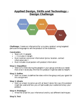 Design Thinking and Learning Project