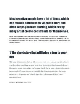 Design Under Constraints activity guide