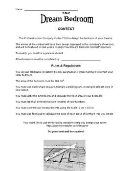 Design Your Dream Bedroom Contest - Culminating Task