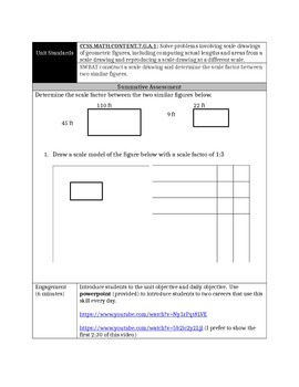 Design Your Dream House: 7.G.A.1 Similar Shapes Inquiry Based Lesson Plan