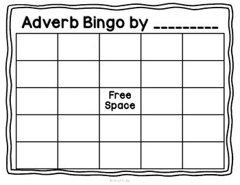 Design-Your-Own Bingo: Adverbs