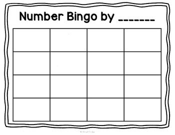 Design-Your-Own Bingo: Numbers to 20