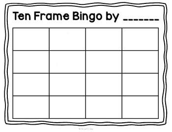 Design-Your-Own Bingo: Ten Frames